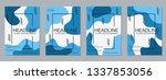 modern business flyer  booklet  ... | Shutterstock .eps vector #1337853056