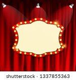 realistic retro cinema now... | Shutterstock . vector #1337855363
