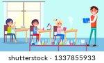 cheerful atmosphere in...   Shutterstock . vector #1337855933