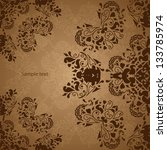 indian vintage ornament. vector ... | Shutterstock .eps vector #133785974