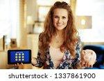 portrait of happy modern woman... | Shutterstock . vector #1337861900
