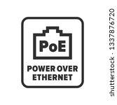 power over ethernet symbol | Shutterstock .eps vector #1337876720