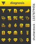 diagnosis icon set. 26 filled... | Shutterstock .eps vector #1337879456