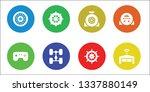 steering icon set. 8 filled... | Shutterstock .eps vector #1337880149