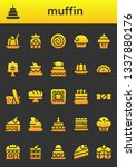 muffin icon set. 26 filled... | Shutterstock .eps vector #1337880176