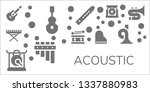 acoustic icon set. 11 filled... | Shutterstock .eps vector #1337880983