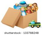 illustration of a box full of... | Shutterstock .eps vector #133788248