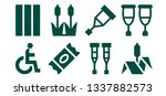 cane icon set. 8 filled cane... | Shutterstock .eps vector #1337882573