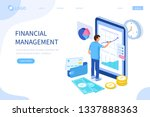 financial management concept.... | Shutterstock .eps vector #1337888363