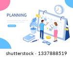 planning schedule and calendar... | Shutterstock .eps vector #1337888519