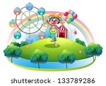 illustration of a clown with a... | Shutterstock .eps vector #133789286
