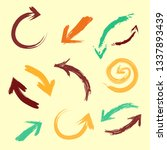 colored arrows pointers. set... | Shutterstock .eps vector #1337893439