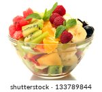 Fresh Fruits Salad In Bowl...