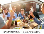 leisure and people concept  ... | Shutterstock . vector #1337912393