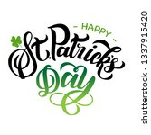 happy st patricks day black and ... | Shutterstock .eps vector #1337915420