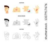 vector design of hospital and...   Shutterstock .eps vector #1337917676