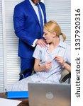 sexual harassment between... | Shutterstock . vector #1337920316