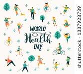world health day. vector... | Shutterstock .eps vector #1337923739