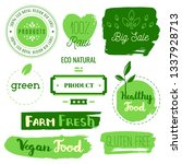 healthy food icons  labels.... | Shutterstock .eps vector #1337928713