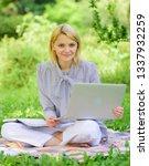 business lady freelance work... | Shutterstock . vector #1337932259