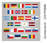 flags of eu countries | Shutterstock .eps vector #133793888