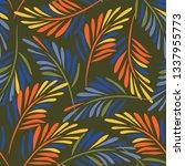 herbal seamless pattern....   Shutterstock .eps vector #1337955773