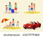 cartoon mother and father with... | Shutterstock .eps vector #1337979383