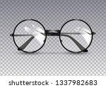 black glasses isolated on...   Shutterstock .eps vector #1337982683