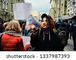 kharkiv  ukraine   march 8 ... | Shutterstock . vector #1337987393