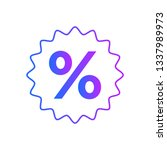 percentage sign icon vector | Shutterstock .eps vector #1337989973