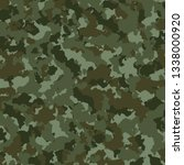 military or hunting camouflage... | Shutterstock .eps vector #1338000920