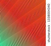 abstract acid color wavy... | Shutterstock .eps vector #1338004340