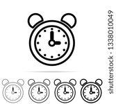alarm clock icon in different...