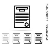 document with seal icon in...