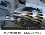 missile launcher under wing of... | Shutterstock . vector #1338037919