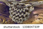 abstract fractal background.... | Shutterstock . vector #1338047339