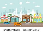 shop store small business... | Shutterstock .eps vector #1338049319