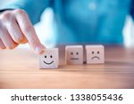 close up customer hand choose... | Shutterstock . vector #1338055436