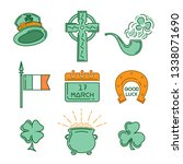 multicolored icons set for st.... | Shutterstock .eps vector #1338071690
