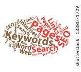 text cloud. seo wordcloud.... | Shutterstock .eps vector #1338071729