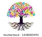 abstract vibrant tree logo... | Shutterstock .eps vector #1338085493