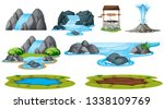 set of isolated water element... | Shutterstock .eps vector #1338109769