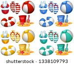 set of beach elements... | Shutterstock .eps vector #1338109793