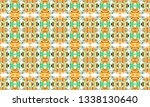 colorful seamless ornament for...   Shutterstock . vector #1338130640
