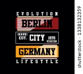 evolution berlin city tee... | Shutterstock .eps vector #1338132359