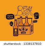 happy hour beers label with... | Shutterstock .eps vector #1338137810