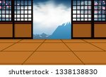indoor dojo room white fuji...   Shutterstock .eps vector #1338138830