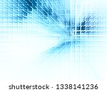 abstract blue on white... | Shutterstock . vector #1338141236