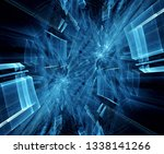 abstract blue and black... | Shutterstock . vector #1338141266
