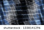 abstract blue on black... | Shutterstock . vector #1338141296